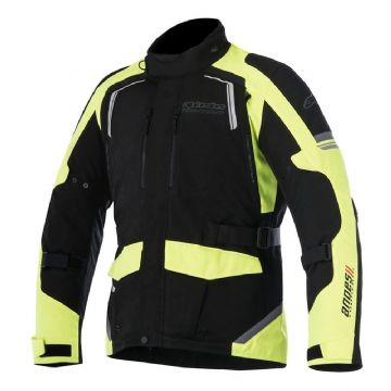 Alpinestars Andes V2 Drystar Textile Motorcycle Jacket - Black Yellow Fluo
